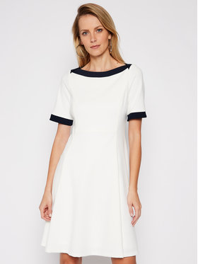 DKNY DKNY Koktejlové šaty DD0K1503 Bílá Regular Fit
