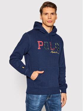 Polo Ralph Lauren Polo Ralph Lauren Sweatshirt Striped-Logo 710853266001 Bleu marine Regular Fit