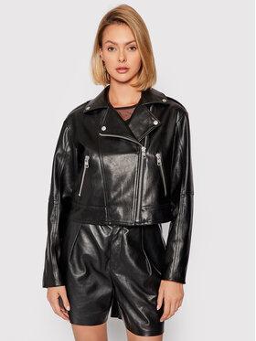 Calvin Klein Jeans Calvin Klein Jeans Bunda z imitácie kože J20J216264 Čierna Slim Fit