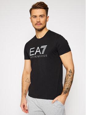 EA7 Emporio Armani EA7 Emporio Armani T-Shirt 3KPT12 PJ7CZ 1200 Schwarz Regular Fit