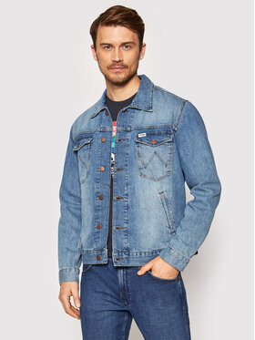 Wrangler Wrangler Kurtka jeansowa W443ZB286 Niebieski Regular Fit