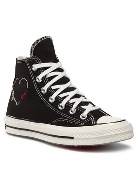 Converse Converse Plátěnky Chuck 70 Hi 171118C Černá