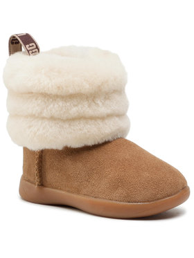 Ugg Ugg Stiefel T Mini Quilted Fluff 1110704T Braun