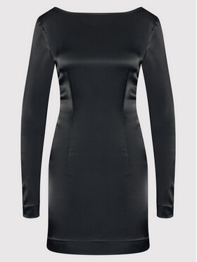 ROTATE ROTATE Sukienka koktajlowa Allyssa RT332 Czarny Slim Fit