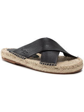Pepe Jeans Pepe Jeans Espadrilės Holly Crossed PLS90215 Juoda
