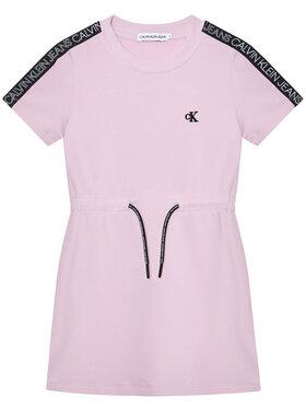 Calvin Klein Jeans Calvin Klein Jeans Kasdieninė suknelė Logo Tape IG0IG00807 Violetinė Regular Fit