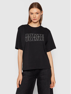 ROTATE ROTATE T-Shirt Aster Tee RT444 Schwarz Loose Fit