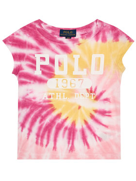 Polo Ralph Lauren Polo Ralph Lauren Póló Tie Dye Tee 311803031001 Rózsaszín Regular Fit