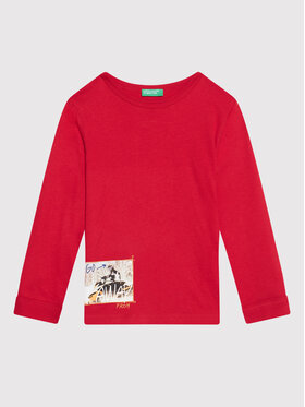 United Colors Of Benetton United Colors Of Benetton Bluse 3ATNC15EU Rot Regular Fit