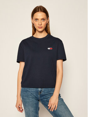 Tommy Jeans Tommy Jeans T-Shirt Tjw Badge DW0DW06813 Dunkelblau Relaxed Fit
