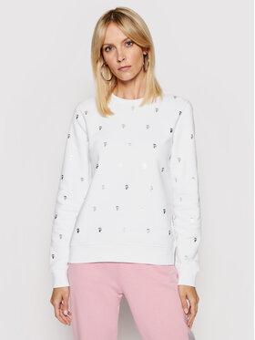 KARL LAGERFELD KARL LAGERFELD Sweatshirt All-Over Ikonik Karl 210W1807 Blanc Regular Fit