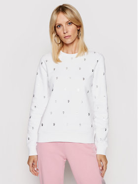KARL LAGERFELD KARL LAGERFELD Sweatshirt All-Over Ikonik Karl 210W1807 Weiß Regular Fit