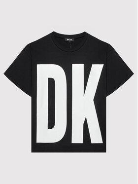 DKNY DKNY Póló D35R61 D Fekete Regular Fit
