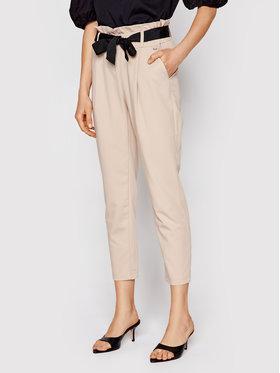 Rinascimento Rinascimento Kalhoty z materiálu CFC0102131003 Béžová Slim Fit