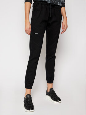 Diamante Wear Diamante Wear Joggers kalhoty Unisex Jeans V3 5344 Černá Regular Fit