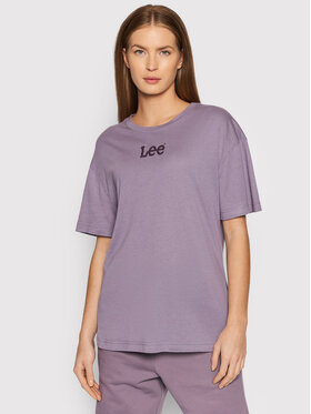 Lee Lee T-Shirt Crew L43PBYTZ Fioletowy Relaxed Fit
