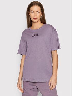 Lee Lee Тишърт Crew L43PBYTZ Виолетов Relaxed Fit