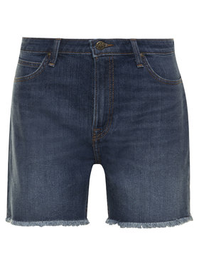 Lee Lee Szorty jeansowe Rider L37NMGFL Granatowy Relaxed Fit