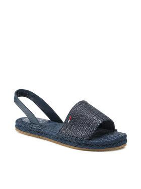 Tommy Jeans Tommy Jeans Espadrilky Monochrome Espadrille Sandal EN0EN01383 Tmavomodrá
