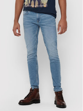 Only & Sons ONLY & SONS Jeansy Warp Life 22015149 Niebieski Skinny Fit