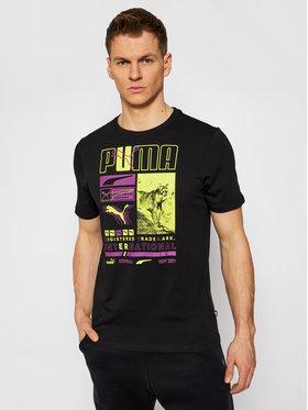 Puma Puma T-Shirt Box 587765 Schwarz Regular Fit