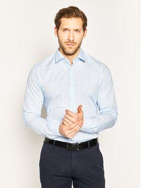 Strellson Strellson Koszula Santos 30018823 Bordowy Slim Fit