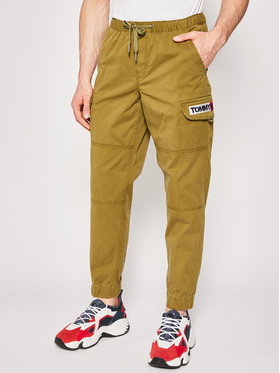 Tommy Jeans Tommy Jeans Blugi Tapered Fid Cuffed DM0DM07817 Verde Tapered Fit