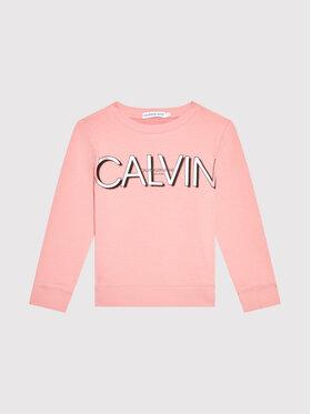 Calvin Klein Jeans Calvin Klein Jeans Pulóver Logo IG0IG01006 Rózsaszín Regular Fit