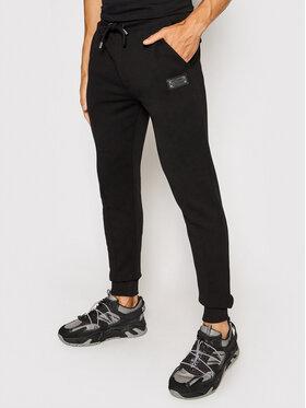 Les Hommes Les Hommes Teplákové kalhoty LLJ100758U Černá Regular Fit