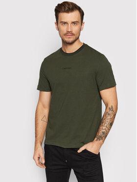 Calvin Klein Calvin Klein T-Shirt Center Logo K10K107845 Πράσινο Regular Fit