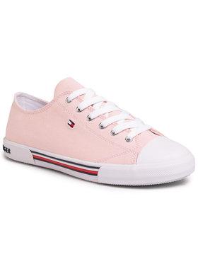 Tommy Hilfiger Tommy Hilfiger Plátěnky Low Cut Lace-Up Sneaker T3A4-30605-0890 D Růžová