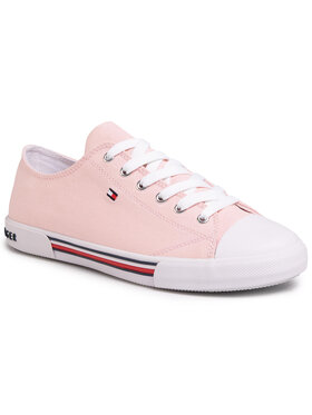 Tommy Hilfiger Tommy Hilfiger Trampki Low Cut Lace-Up Sneaker T3A4-30605-0890 D Różowy
