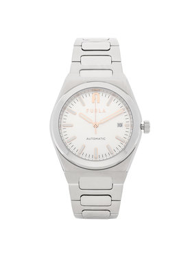 Furla Furla Zegarek Tempo Automatic WW00012-MT0000-Y3000-1-003-20-CN-W Srebrny
