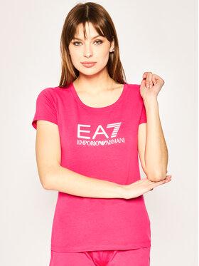EA7 Emporio Armani EA7 Emporio Armani T-Shirt 8NTT63 TJ12Z 1401 Růžová Slim Fit