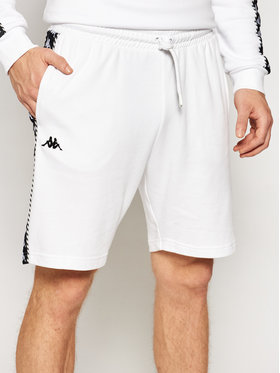 Kappa Kappa Pantaloni scurți sport Italo 309013 Alb Regular Fit