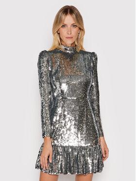 MICHAEL Michael Kors MICHAEL Michael Kors Sukienka koktajlowa Sequined Georgette MF180P67R3 Srebrny Regular Fit