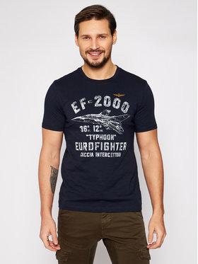Aeronautica Militare Aeronautica Militare T-Shirt 211TS1865J512 Granatowy Regular Fit