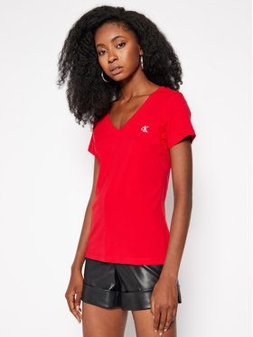 Calvin Klein Jeans Calvin Klein Jeans Tricou J20J213716 Roșu Regular Fit