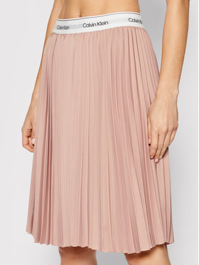 Calvin Klein Calvin Klein Plisovaná sukně K20K201779 Růžová Regular Fit