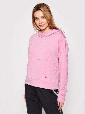 Under Armour Under Armour Mikina Rival Terry Taped Růžová Loose Fit
