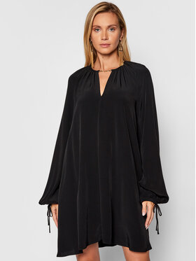 Trussardi Trussardi Hétköznapi ruha 56D00556 Fekete Relaxed Fit