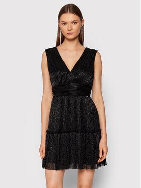 Rinascimento Rinascimento Sukienka koktajlowa CFC0104682003 Czarny Regular Fit
