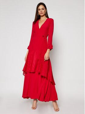 Pinko Pinko Sukienka wieczorowa Zuccherino 20201 BLK01 1G14RJ Y639 Czerwony Regular Fit