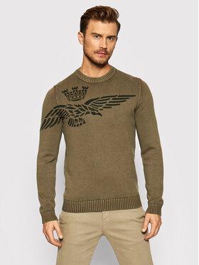 Aeronautica Militare Aeronautica Militare Sweter 212MA1350L455 Zielony Regular Fit