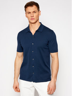 Oscar Jacobson Oscar Jacobson Marškiniai Celvin 6868 3918 Tamsiai mėlyna Regular Fit