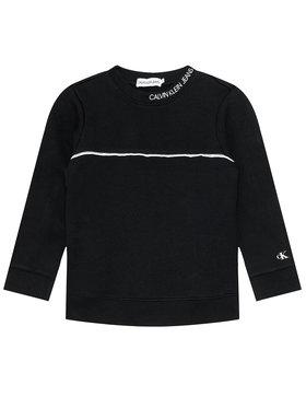 Calvin Klein Jeans Calvin Klein Jeans Pulóver Logo Piping IB0IB00676 Fekete Regular Fit