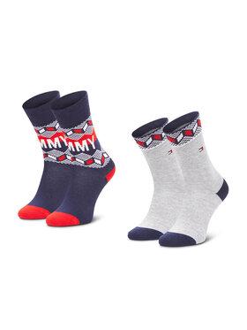 Tommy Hilfiger Tommy Hilfiger Set di 2 paia di calzini lunghi da bambini 100000810 Multicolore