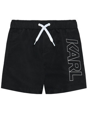 KARL LAGERFELD KARL LAGERFELD Σορτς κολύμβησης Z20055 M Μαύρο Regular Fit