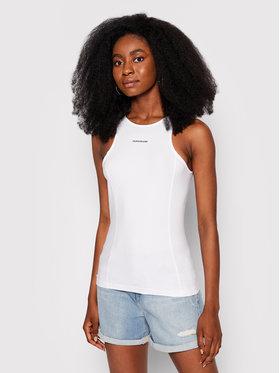 Calvin Klein Jeans Calvin Klein Jeans Bluza J20J216276 Biały Slim Fit