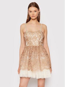 Rinascimento Rinascimento Sukienka koktajlowa CFC0104885003 Brązowy Slim Fit